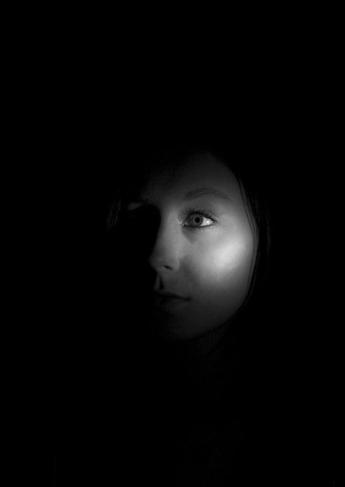 dark face flashlight