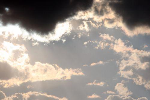 dangus, debesys, šviesa, sidabras, auksas, sluoksniai, tamsi, tamsūs ir šviesūs debesų sluoksniai
