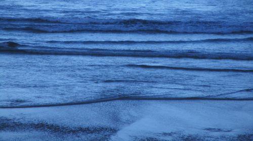Dark Blue Sea Waves