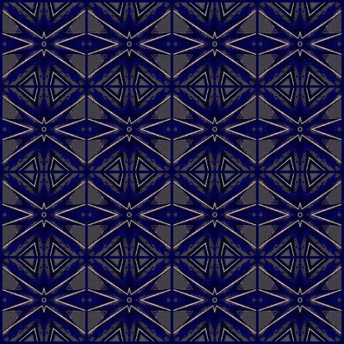Dark - Blue Seamless Pattern