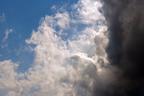 Dark Cloud In Foreground