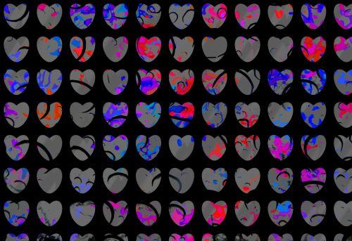 Dark Heart Background