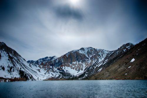 Dark Mountain In Sierras