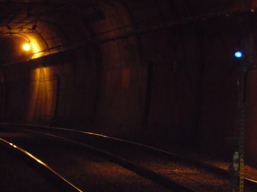 Dark Train Tunnel