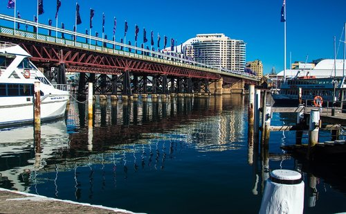 darling harbour  boat  australia