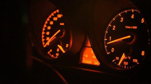dashboard  car  speedometer