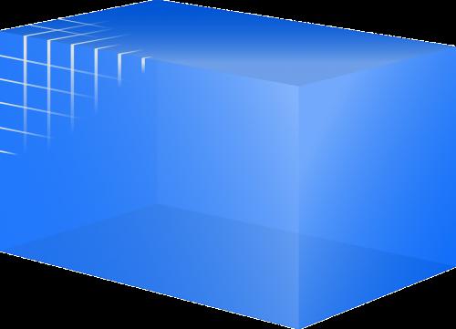 database cube blue