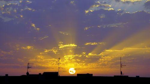 dawn sun sky