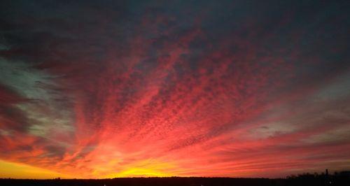 dawn sky nature