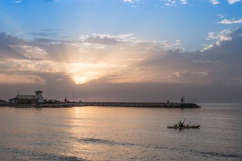 dawn  beach  sea