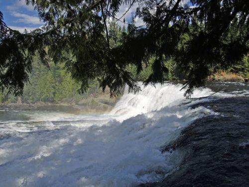 dawson falls wells gray provincial park british columbia