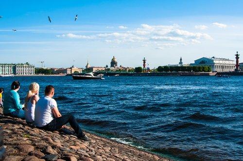 day of the city  st petersburg russia  neva