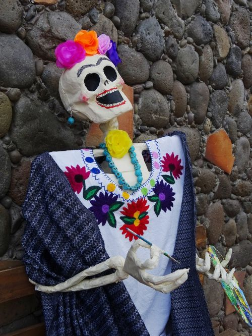 day of the dead calaca tradition