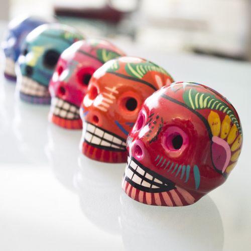 day of the dead skulls campeche