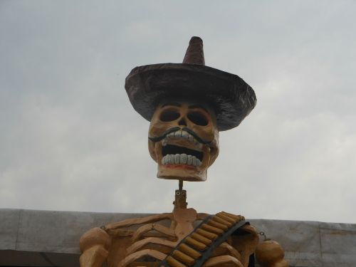 day of the dead mexico skeleton