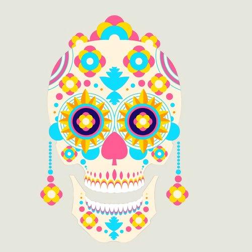 day of the dead  catrina  skull