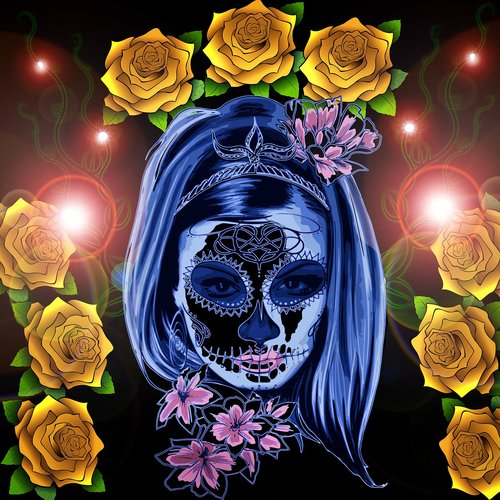 day of the dead  colorful  make up