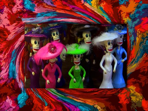 Day Of The Dead Ladies Figurines