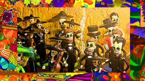 Day Of The Dead Men Figurines