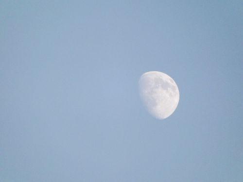 daylight moon moon lunar