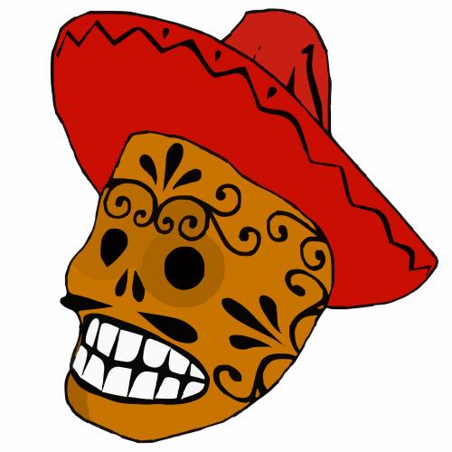 dead sombrero skull