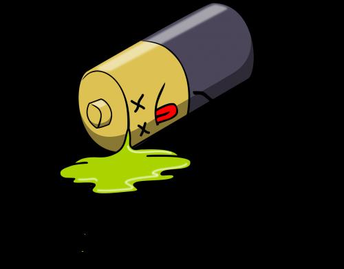 dead battery leak leakage