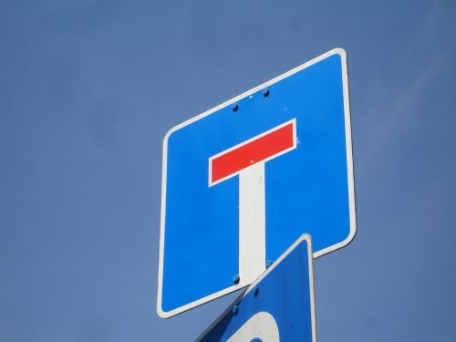 dead end shield street sign