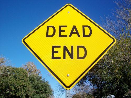 dead end street sign road