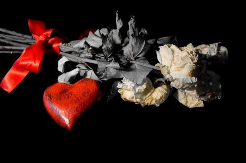 Dead Flowers And Red Heart