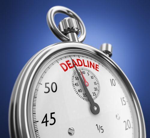deadline stopwatch clock symbol