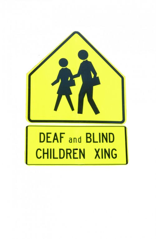 Deaf And Blind Children Crossing