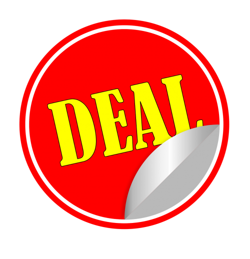deal bargain sticker