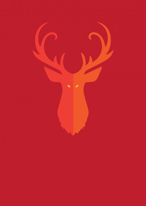 dear horns red