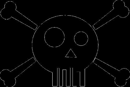 death skull stylized