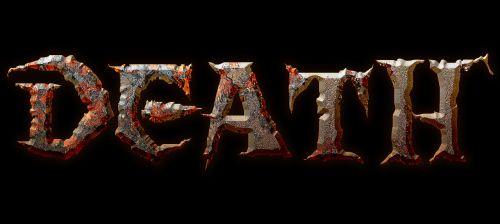 death lettering design