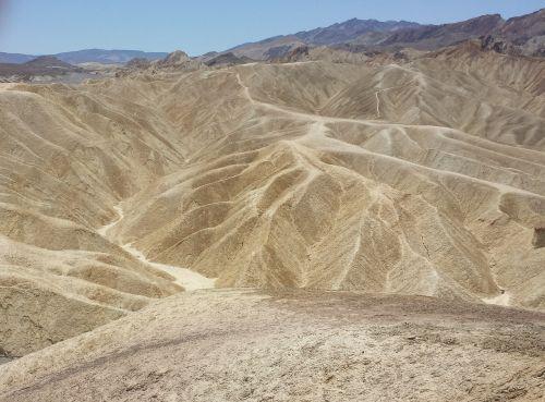 death valley lunar landscape hot