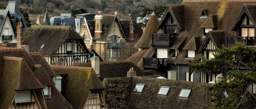 deauville france roofs