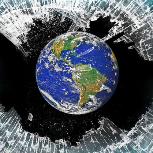 debris shine earth