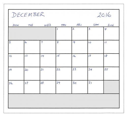 December 2016 Planner