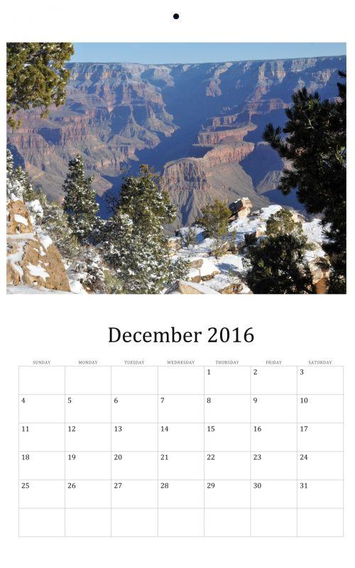December 2016 Wall Calendar