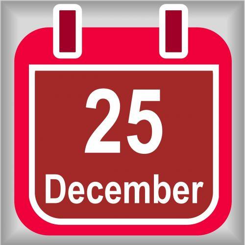 december 25 calendar christmas