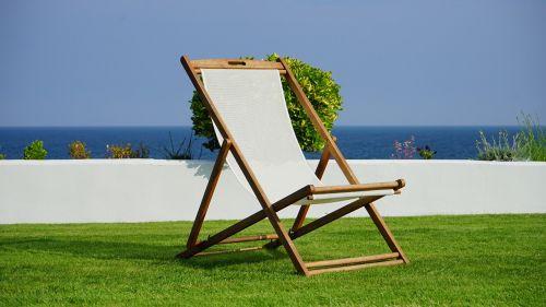deck chair grass deck