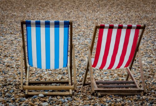 deck chair beach coast