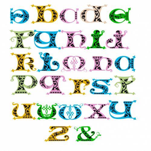 Deco Alphabet