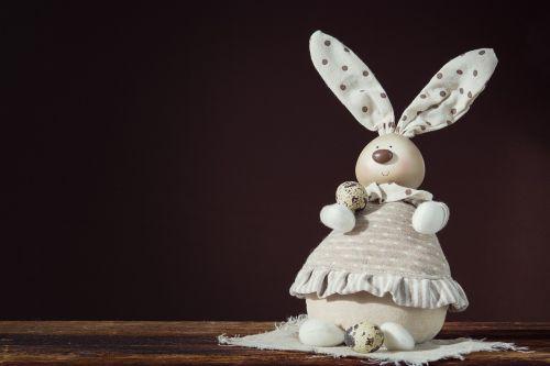 deco-hase deco-bunny quail eggs