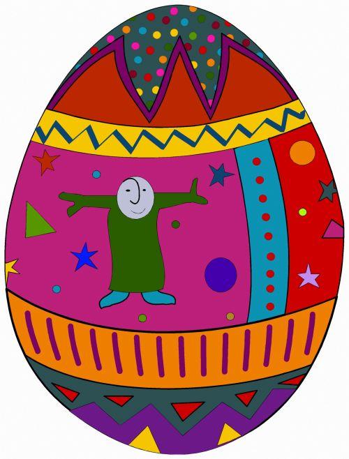 iliustracija, spalvinga, nemokama & nbsp, išraiška, vaizduotinai, dažymas, papuoštas, kiaušinis, šiuolaikiška, menas, papuoštas kiaušinis 3