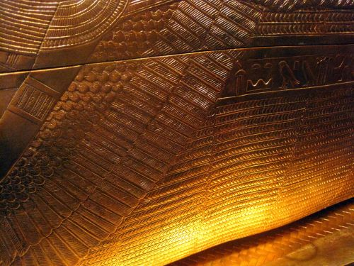 Decorated Gold Skin Of Coffin