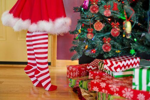 decorating christmas tree santa woman mrs