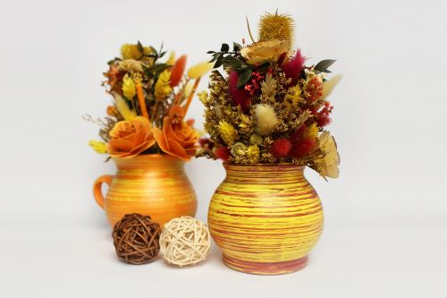 decoration dried grasses flowers