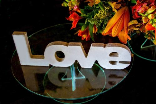 decoration the word love love
